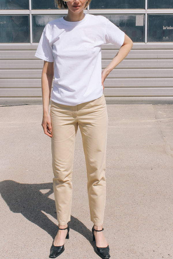 Iceberg Cream Cotton Trousers