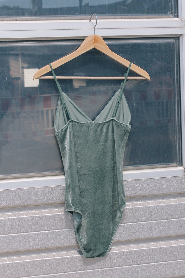 Sage green velour body by Baserange