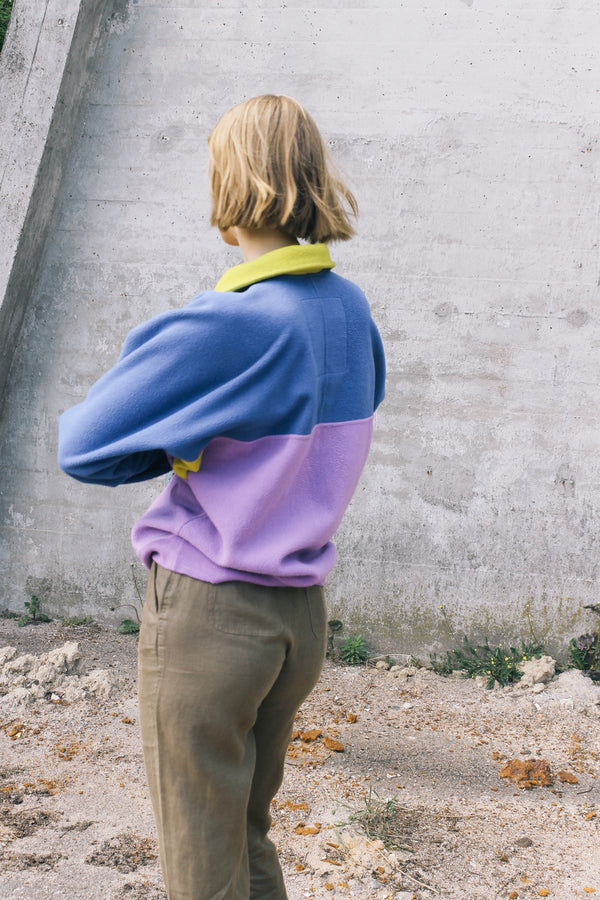 Colour block fleece with chunky neck zip by Bailo Sensation