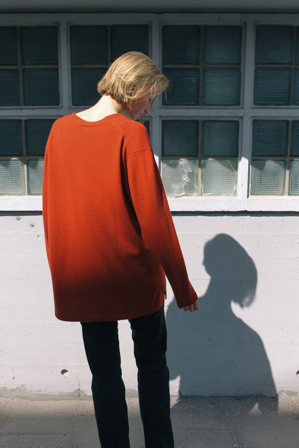 Brick Red Cashmere Cardigan