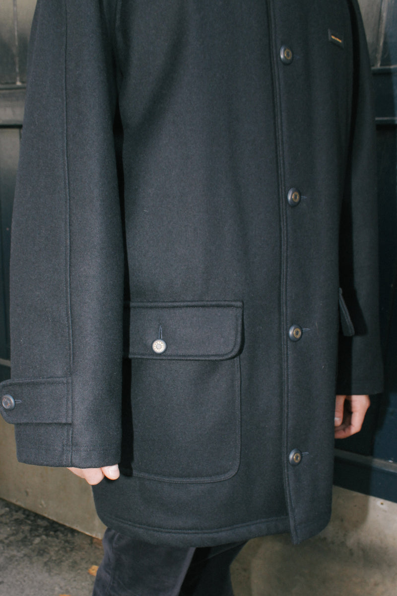 Paul & Shark Navy Wool Peacoat