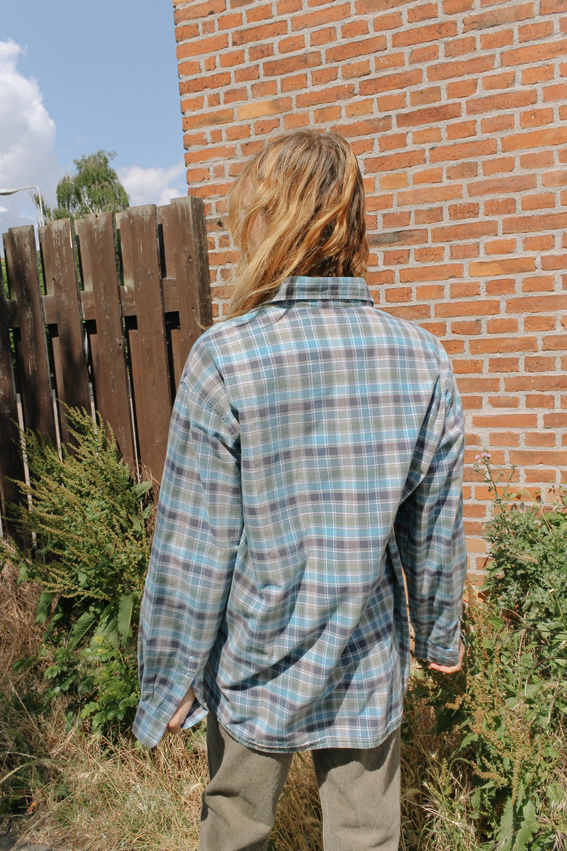 Missoni checked blue shirt
