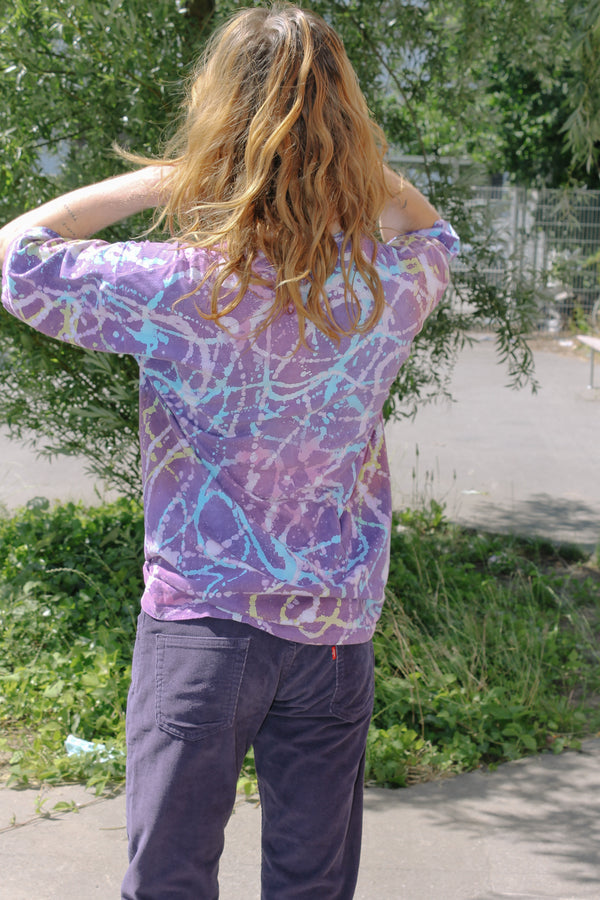 Purple tie dye t-shirt