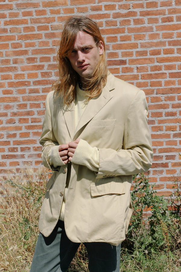 Yellow cotton blazer by Trussardi