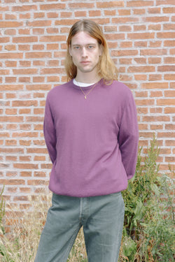 Purple cashmere jumper