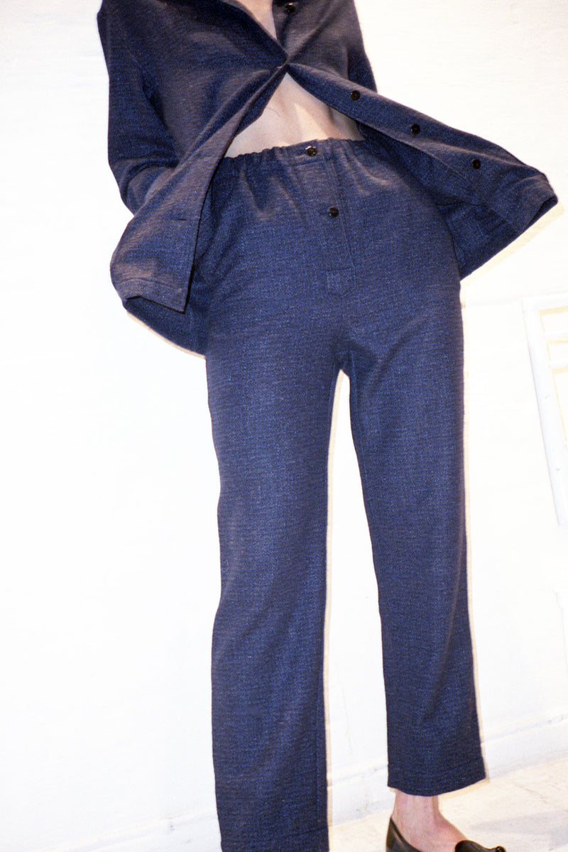Unisex Blue Wool Pyjamas