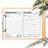 Sermon Notes Printables Welcome Offer, Church Edition