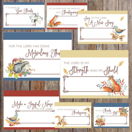 Fall Water Color Thanksgiving Place Cards
