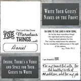Black and White Thanksgiving Place Cards