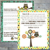Night Owl Bedtime Printables