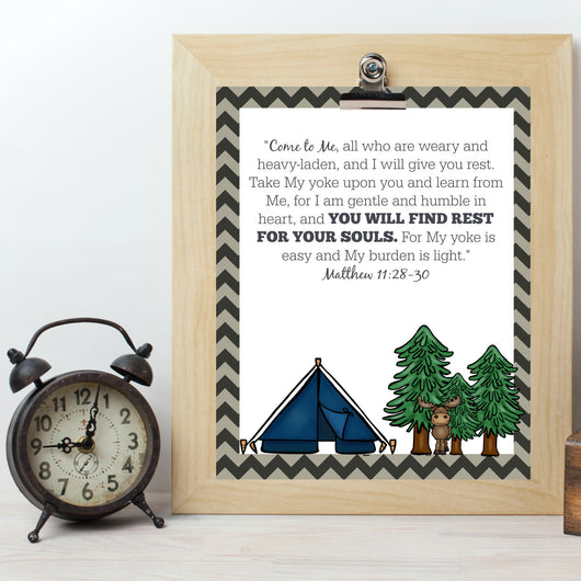 Outdoor Adventures Bedtime Printables