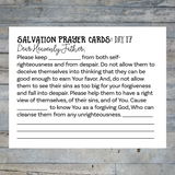 Salvation Prayer Cards for Parents