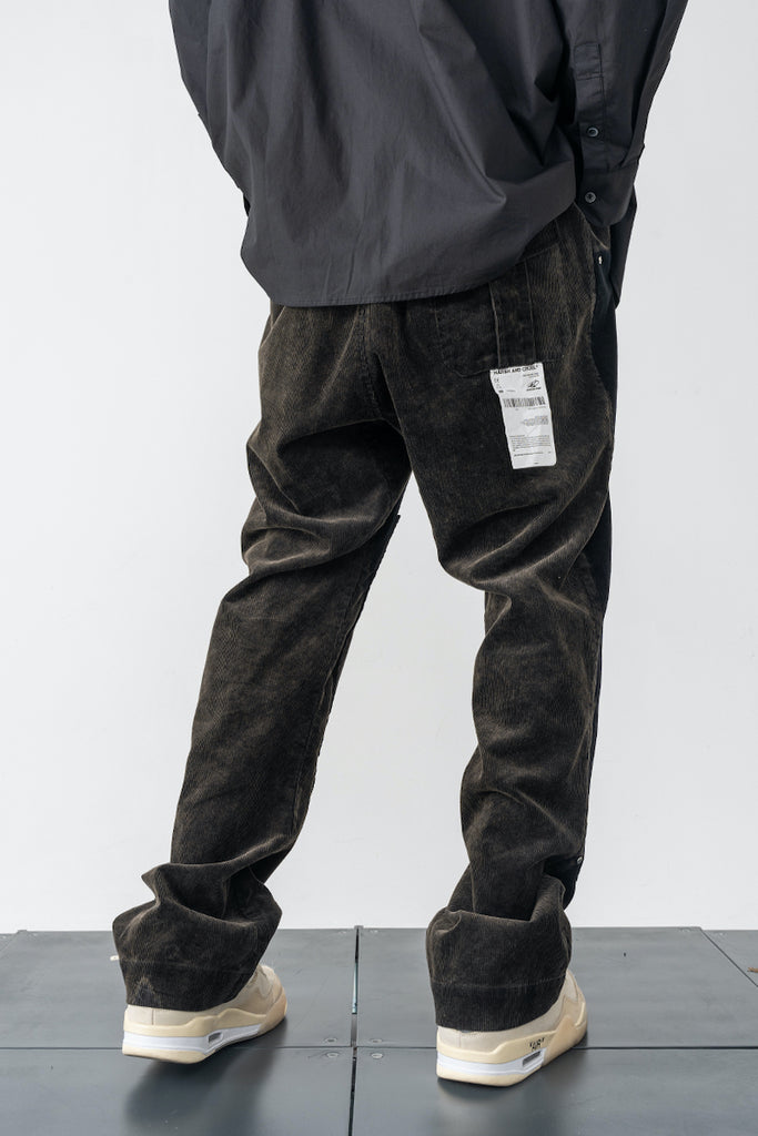 Stripped Out Corduroy Pants - INTL Collective