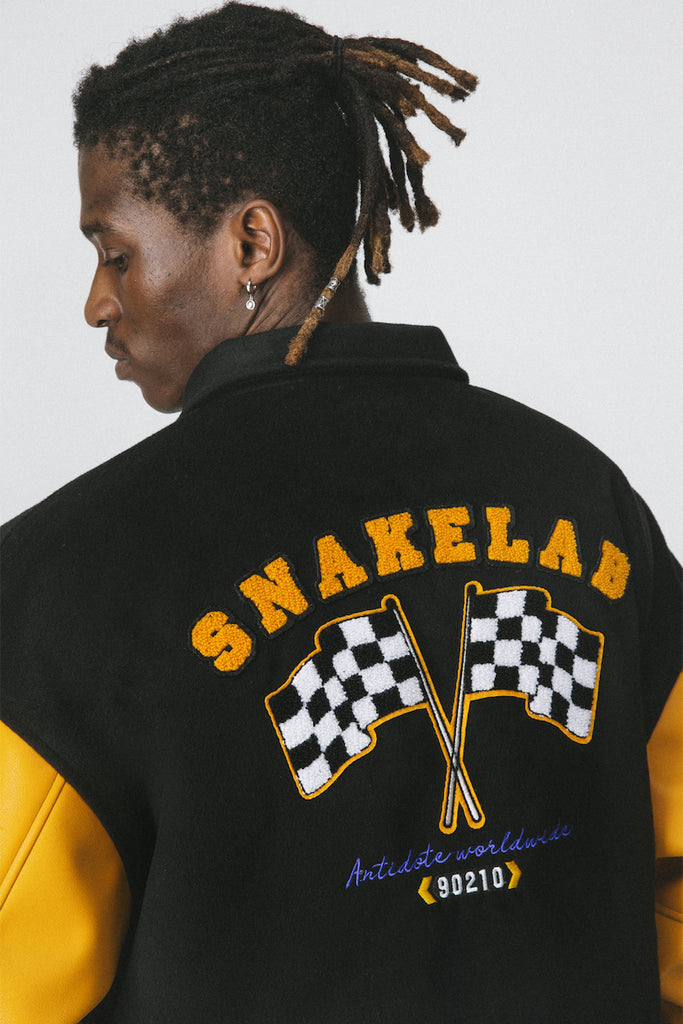 Racing Academy Letterman Jacket - INTL Collective
