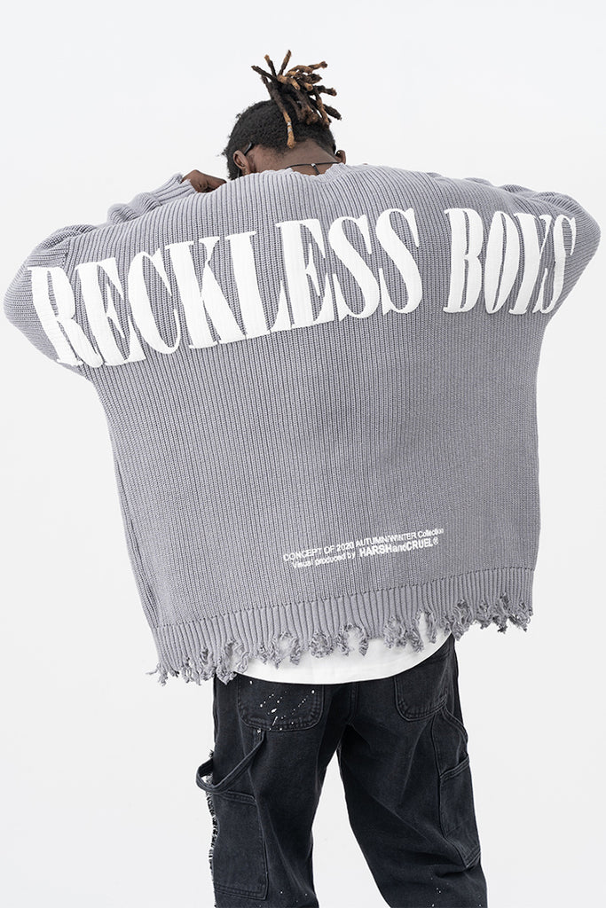 Reckless Boys Distressed Sweater