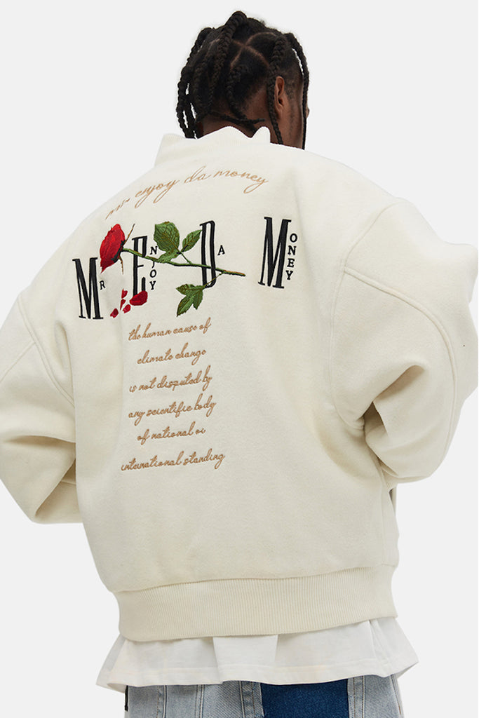 Roses Forever Baseball Jacket - INTL Collective