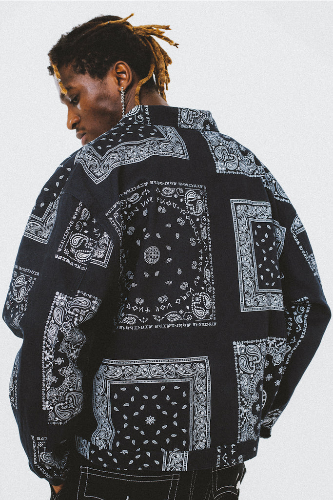 Paisley Denim Jacket - INTL Collective