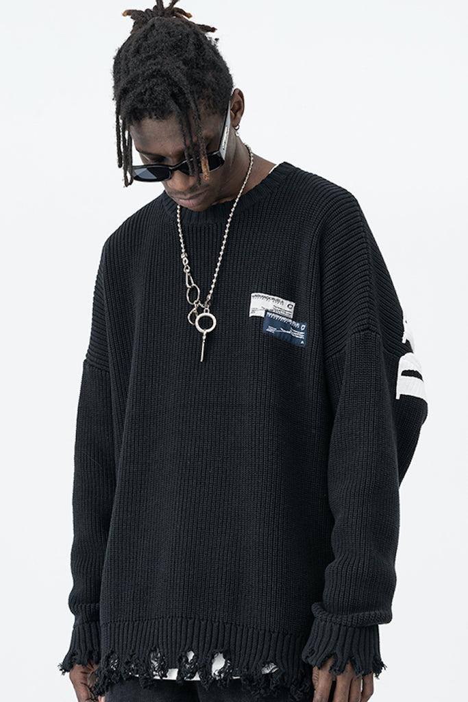 Reckless Boys Distressed Sweater - INTL Collective