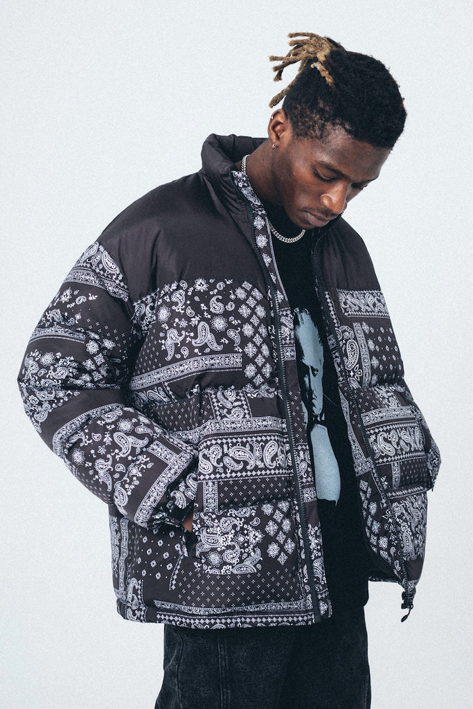 Paisley Down Jacket - INTL Collective