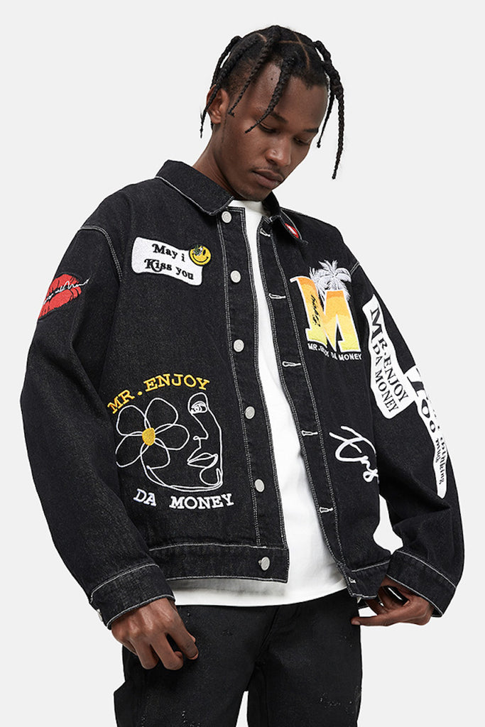 Symbols Denim Jacket - INTL Collective