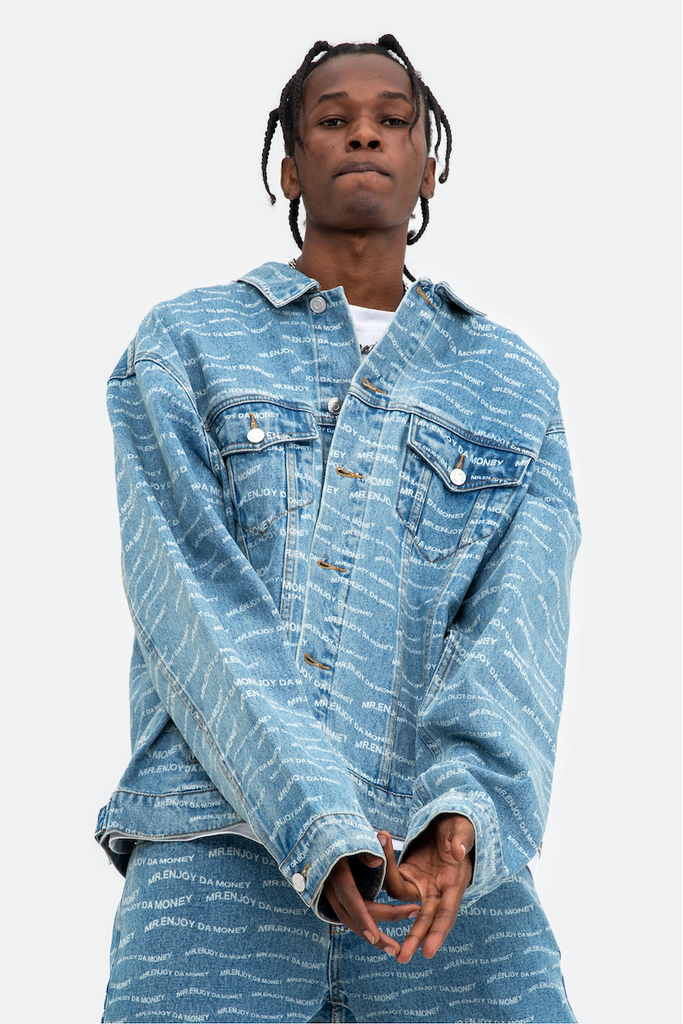 MEDM Wavy Denim Jacket - INTL Collective