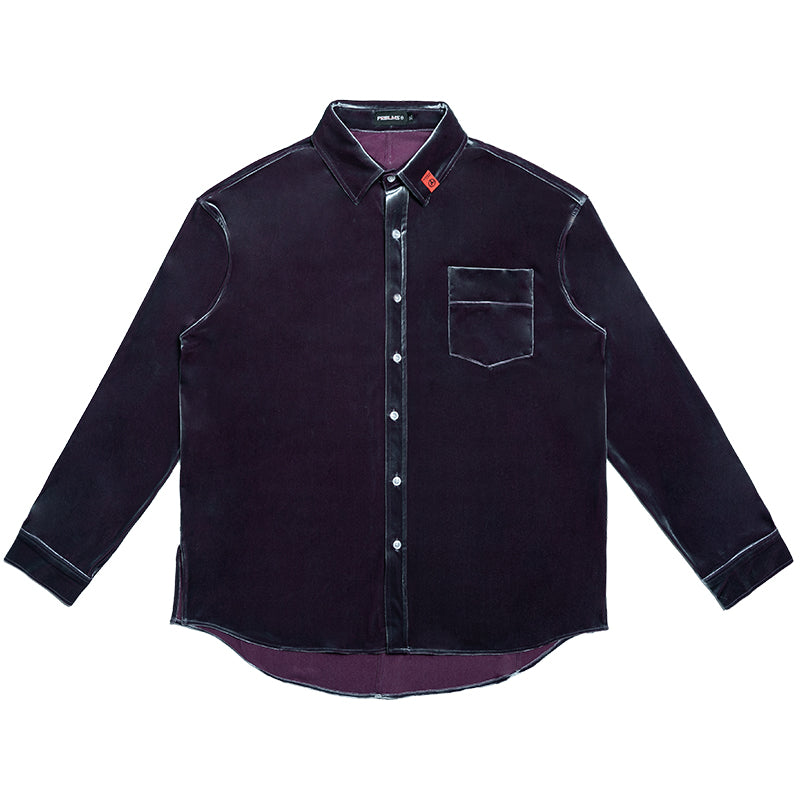 Velvet Button Down - INTL Collective