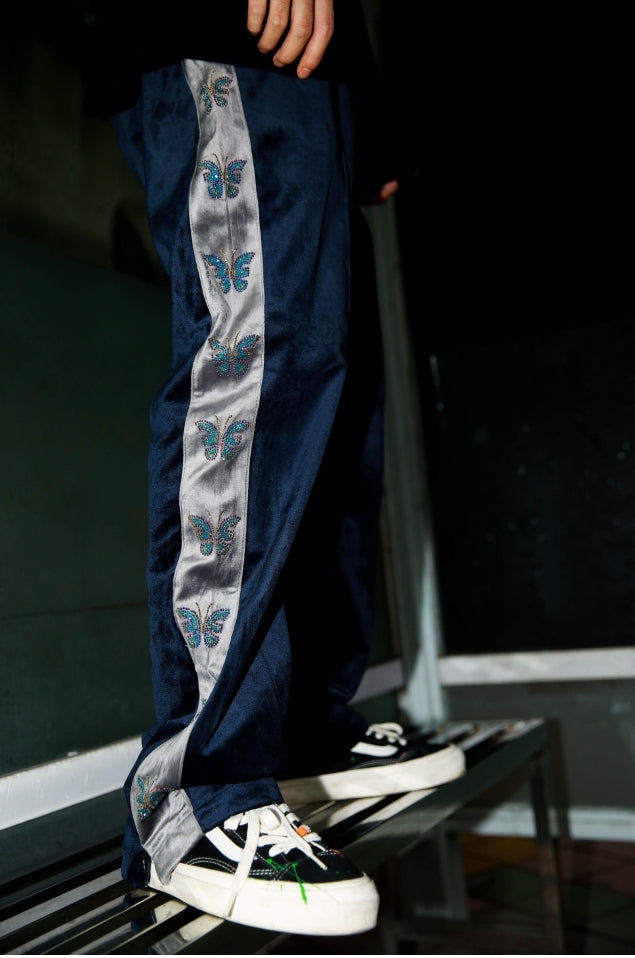 Butterfly Velvet Trackpants - INTL Collective