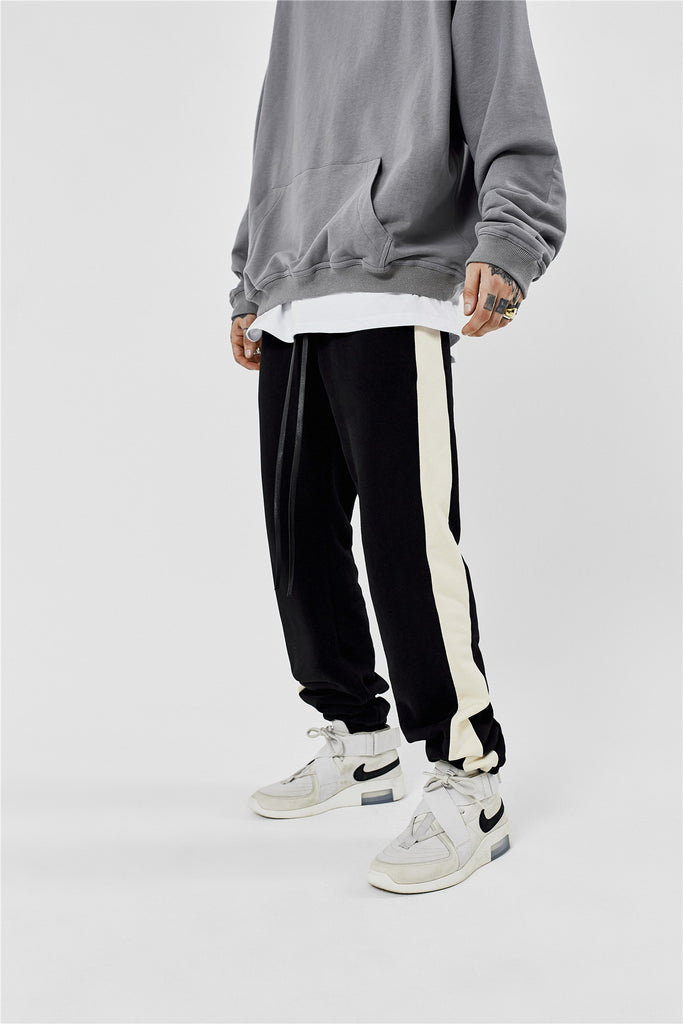 Terry Fleece Striped Lounge Pants - INTL Collective