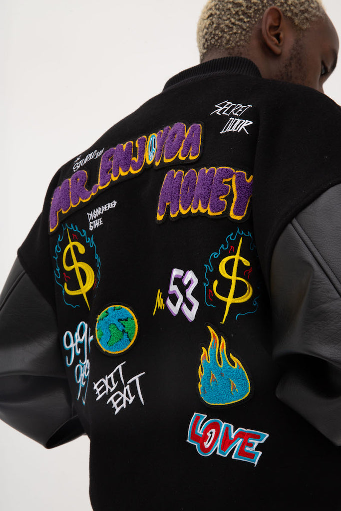 Symbols Letterman Jacket - INTL Collective