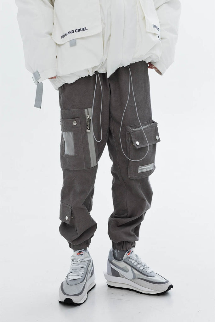 Corduroy Multi-Pocket Cargo Pants - INTL Collective