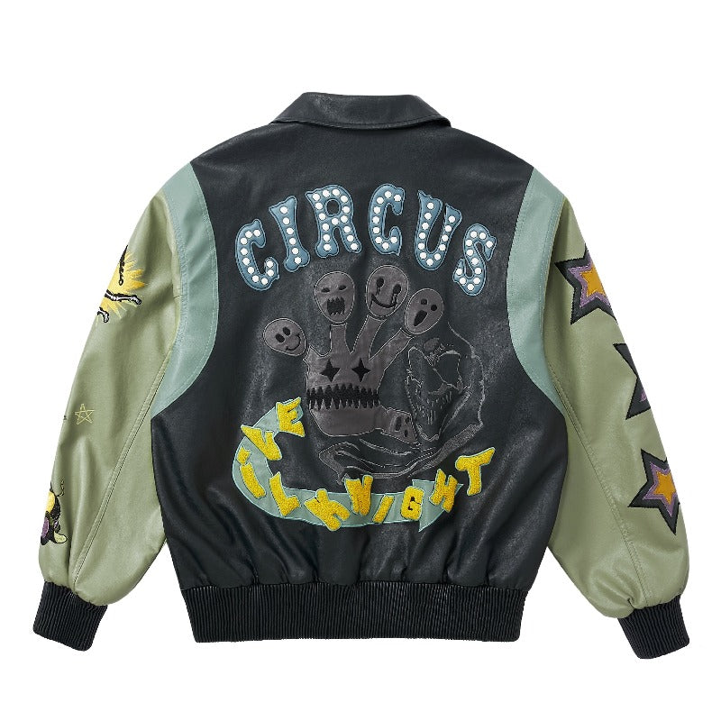 Welcome To The Circus Leather Jacket - INTL Collective