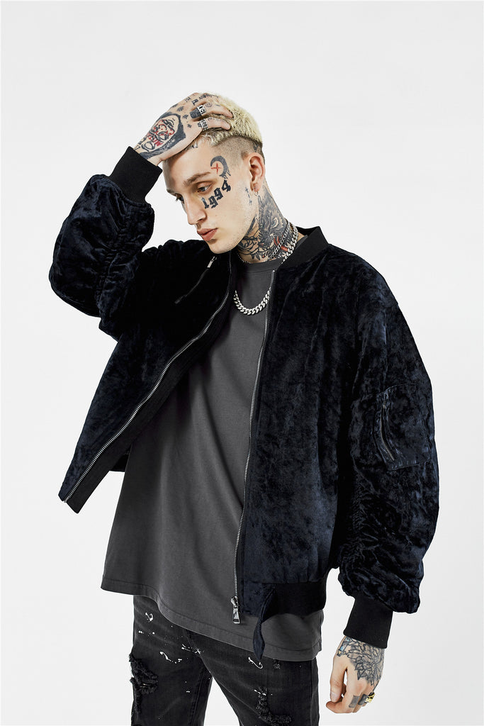 Velvet Bomber Jacket - INTL Collective