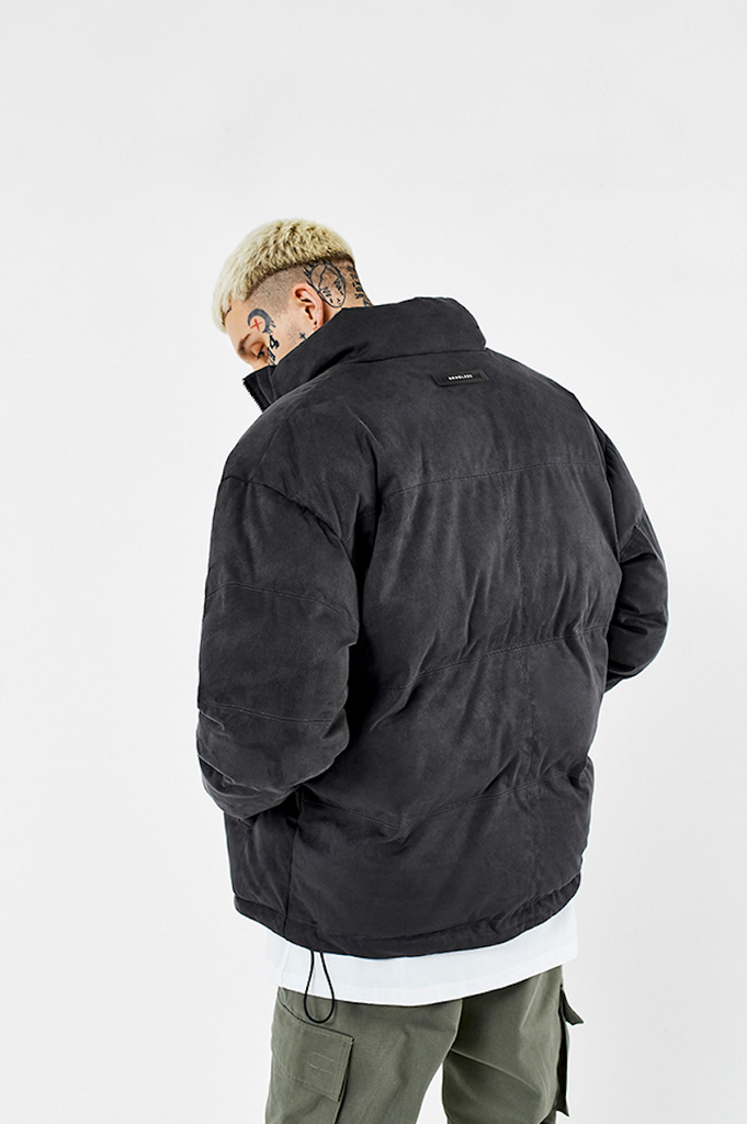 Suede Down Jacket - INTL Collective