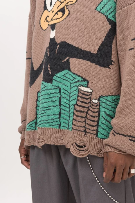 Stackin' Ca$h Distressed Sweater - INTL Collective