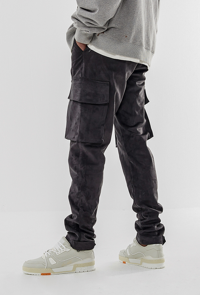 Suede Cargo Pants - INTL Collective