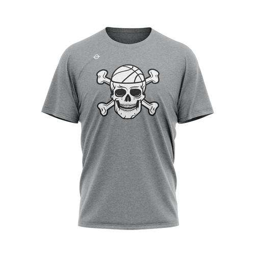 "Bone Collector ""Logo"" Tee - Gray - Lasso® Compression Socks"