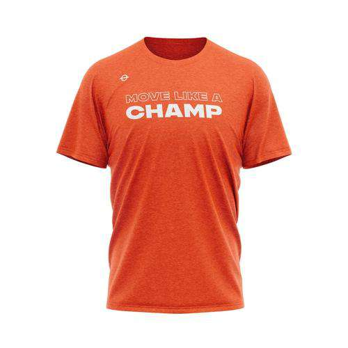 Move Like A Champ Tee - Bronco Orange - Lasso Gear