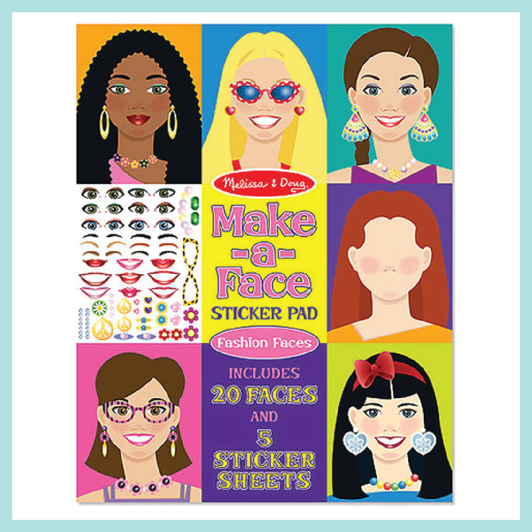 Make-A-Face Sticker Pad: Fashion Faces