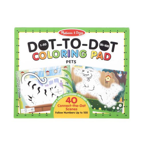 123 Dot-to-Dot Coloring Pad-Pets
