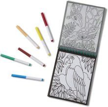 On The Go Animals Stained Glass Coloring Pad