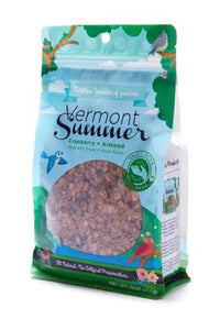 vermont summer vegan granola with almonds and cranberries