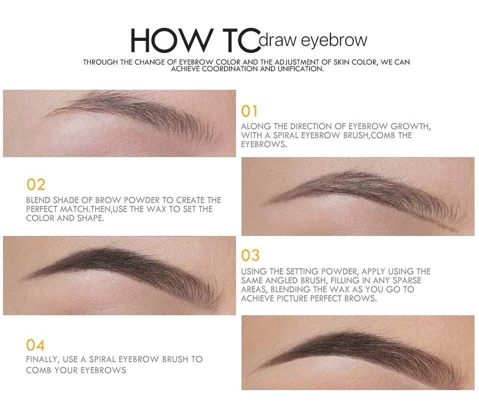 EYEBROW-2 in 1 Powder Waterproof