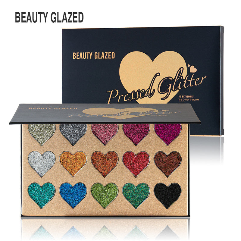 BEAUTY GLAZED  15 Colors EyeShadow Palette
