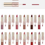 12PCS/Set 2 in 1 Matte Lipstick & Long-lasting  Liquid Lipstick 12 Colors Nudes