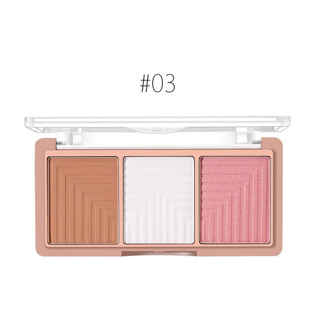 4 colors Highlighter-Blush-Contour  Shading Powder Palette