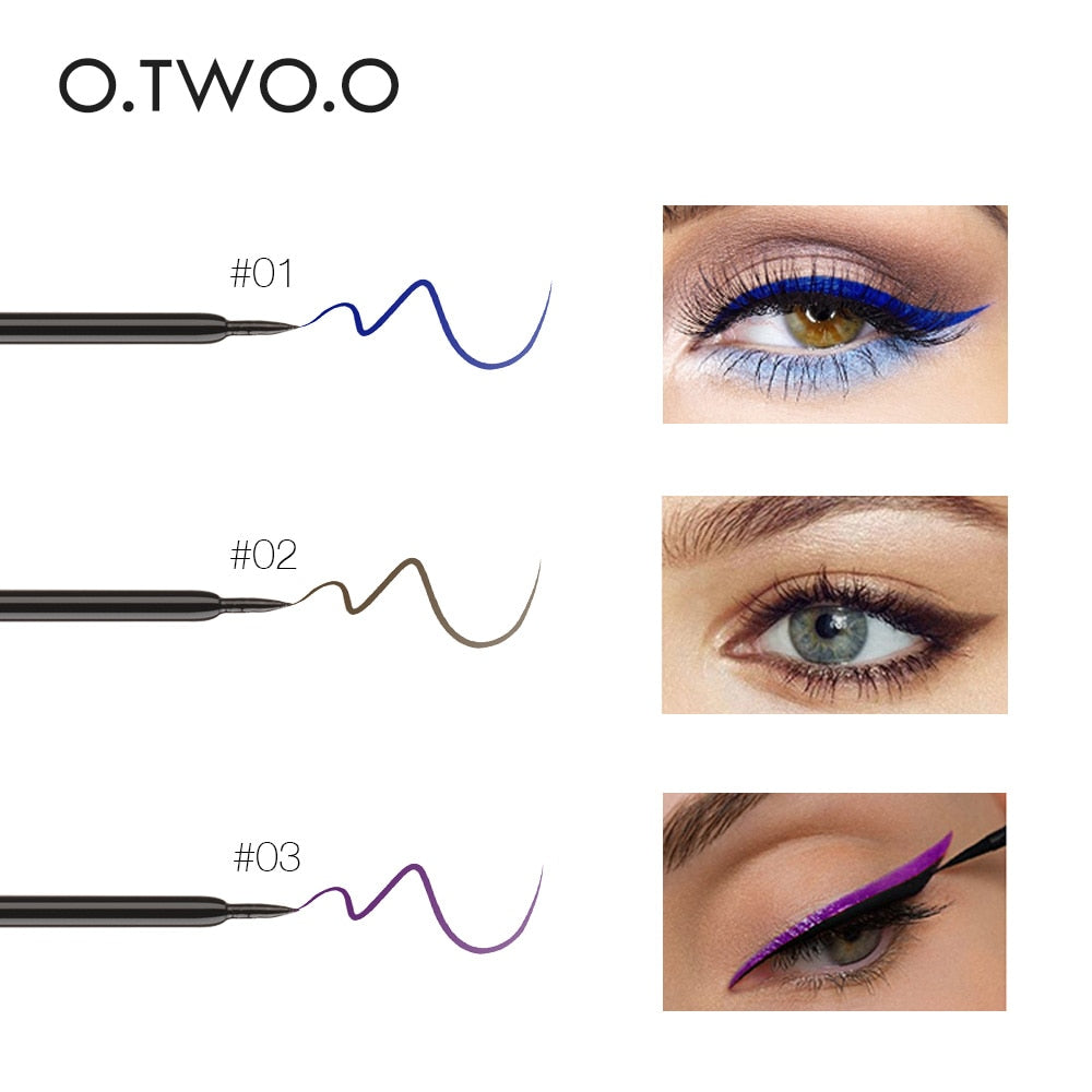 O.TWO.O Waterproof Liquid Eyeliner Make Up Beauty Comestics Long-lasting Eye Liner Pencil Makeup Tools 3 Colors