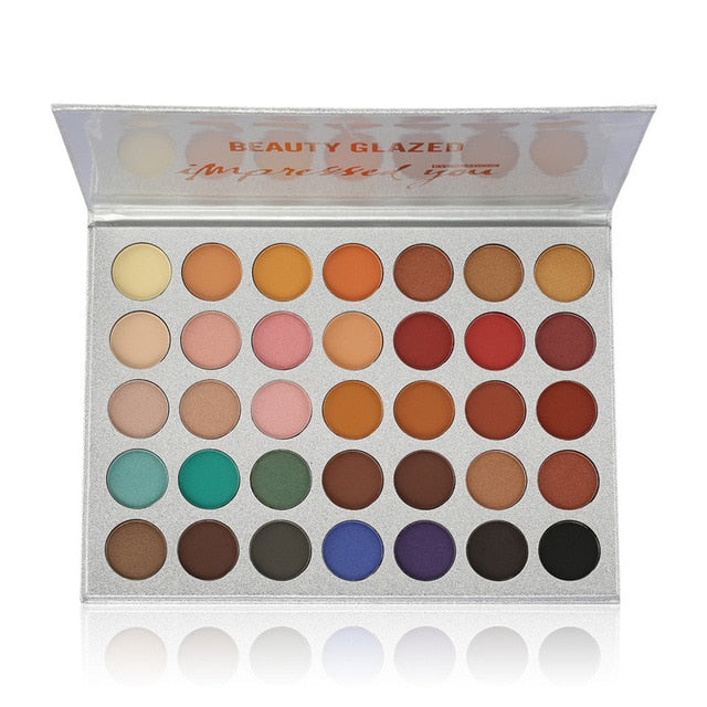 Beauty Glazed Makeup Eye of the Storm Soft Eyeshadow Pallete 14 Color Pigmented Matte Glitter Shades Eyeshadow Palette
