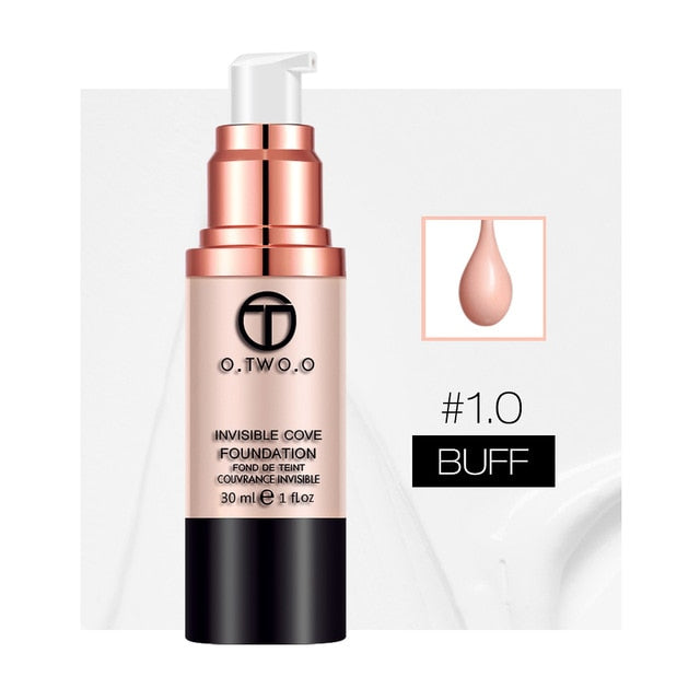 Full Coverage  Liquid Foundation Makeup Base Concealer Whitening Moisturizer Oil-control Waterproof