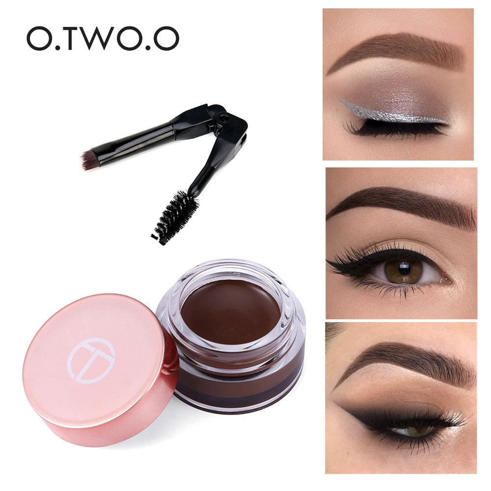 Eyebrow Gel 6 Colors 3D Long Lasting With Brush