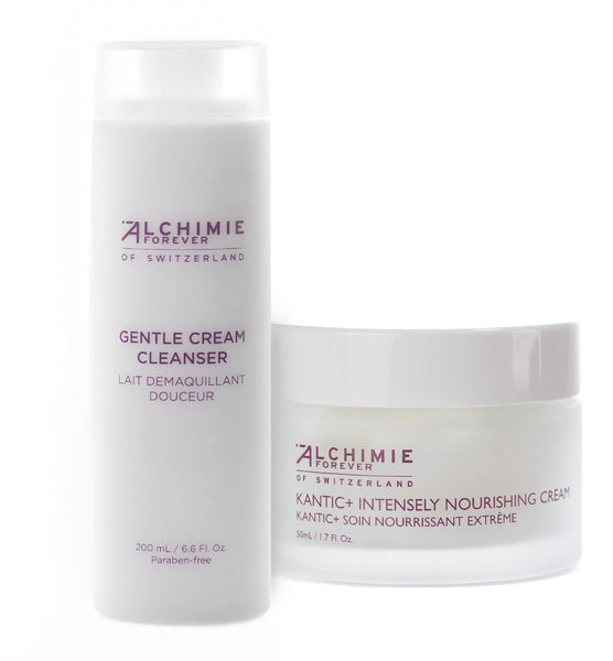 Alchimie Forever Gentle Cream Cleanser and Kantic Intensely Nourishing Cream Bundle